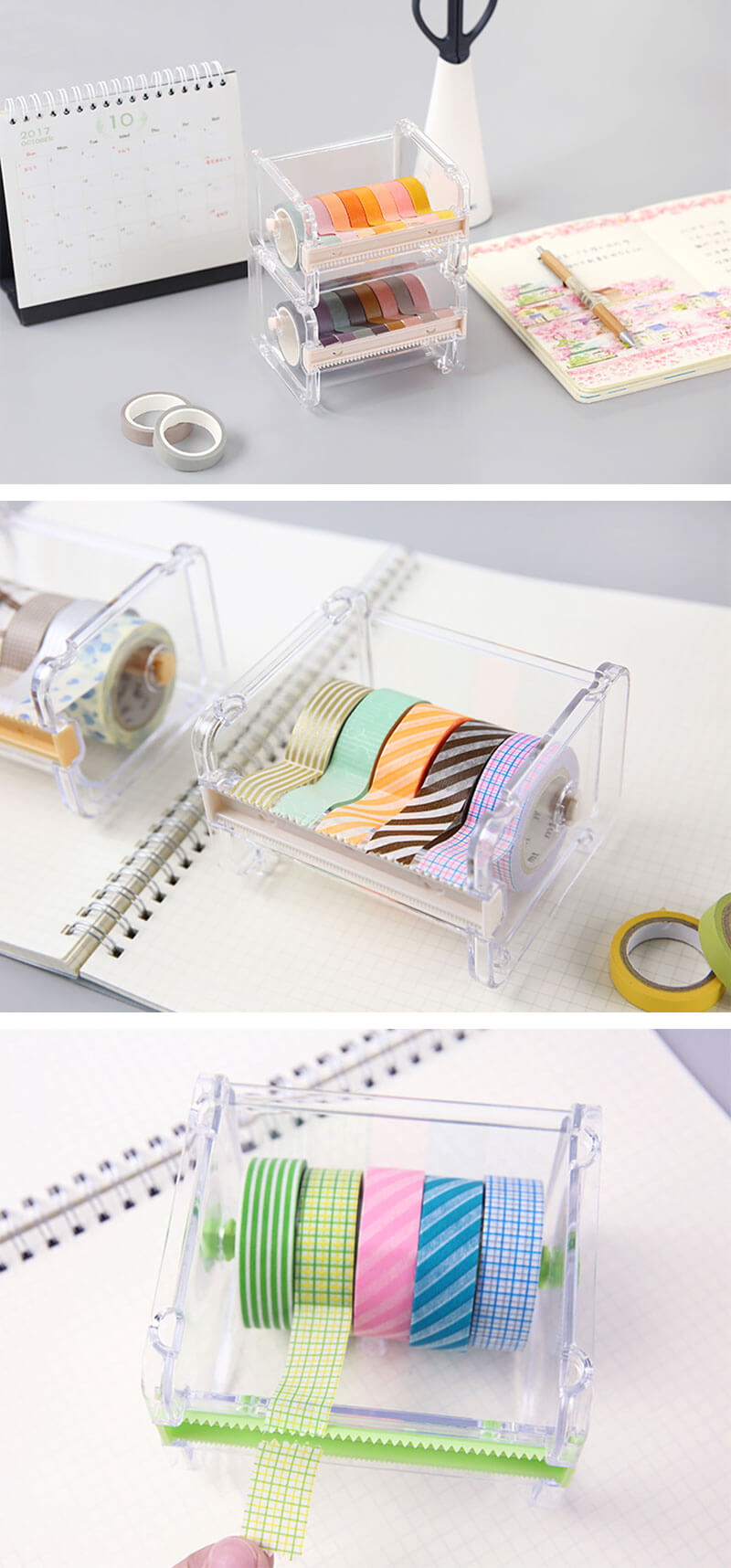 Washi Tape Storage and Dispenser Box - Detail
