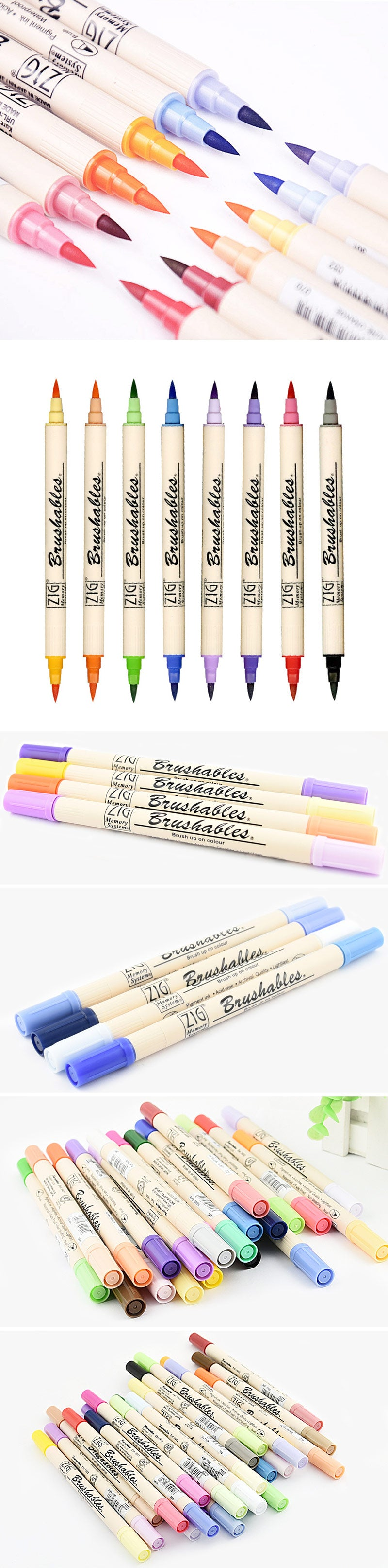 Kuretake ZIG Memory System Brushables Watercolor Brush Pen - showcase