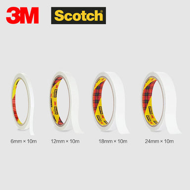 3M Scotch Double Sided Tape 10M, 4 Sizes