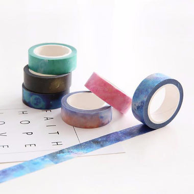 7 Rolls Set Galaxy Washi Tape