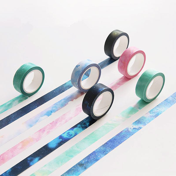 Galaxy Washi Tape 7 Rolls Pack, All 7 Rolls Pack
