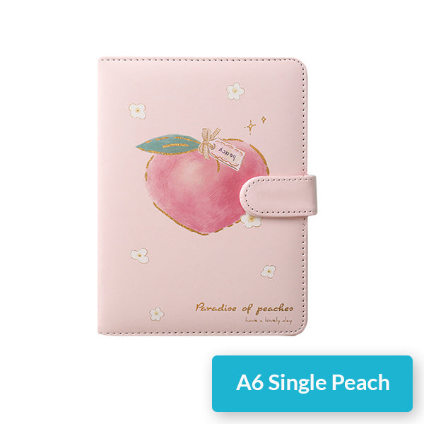 A5 A6 Peach Pink Personal Journal Notebook, Single Peach / A6