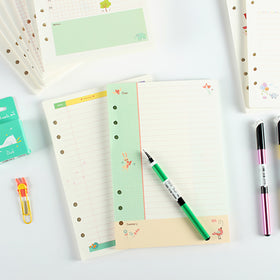 A5 Pastel Filler Paper for Spiral Notebook
