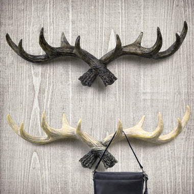 Antler Decorative Wall Hook,Black