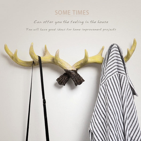 Antler Decorative Wall Hook, Ivory