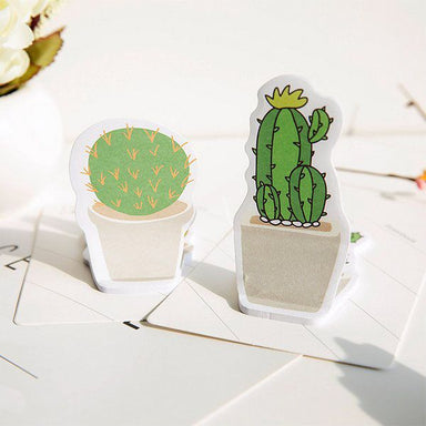 Cactus Sticky Note 4 Pads Pack
