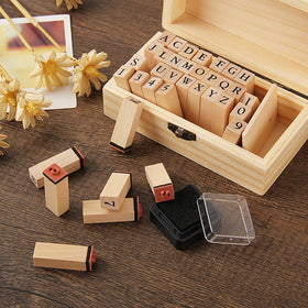 Capital Alphabet Wooden Stamp Set