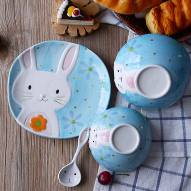 Cartoon Ceramic Tableware Set