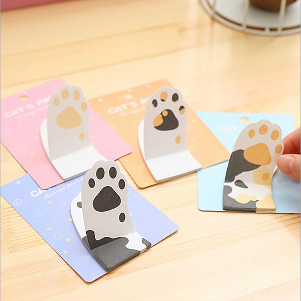 Cat Paw Sticky Note 4 Pads Pack