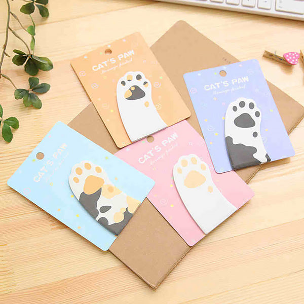 Cat Paw Sticky Note 4 Pads Pack, All 4 Patterns Packs