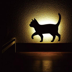 Cat Silhouette Wall Light,Cat Walking