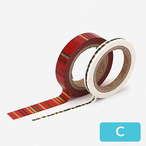 Christmas Decorative Washi Tape, C