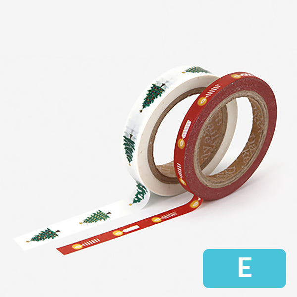 Christmas Decorative Washi Tape, E