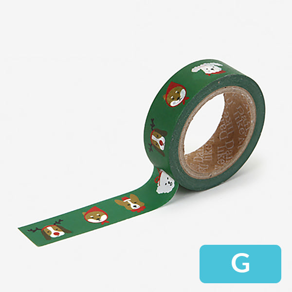 Christmas Decorative Washi Tape, G