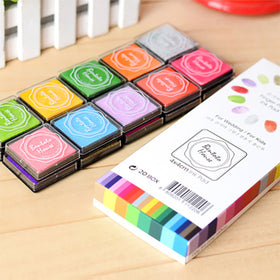 Colorful Multipurpose Stamp Ink Pad 20 Colors Set