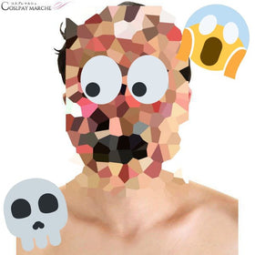 Anatomy of Zombie Costume Mask,Anatomy Face