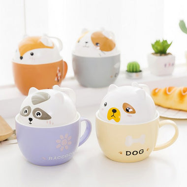 Cute Animal Ceramic Mug,Dog 🐶