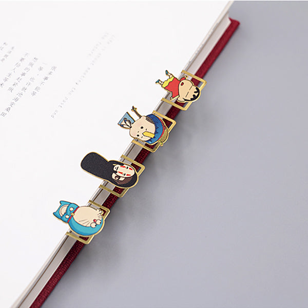 Cute Cartoon Character Metallic Bookmark 10 Pcs Pack