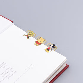 Cute Cartoon Character Metallic Bookmark Set