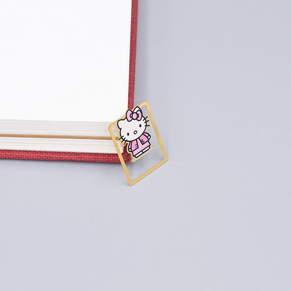 Cute Cartoon Character Metallic Bookmark 10 Pcs Pack, Hello Kitty