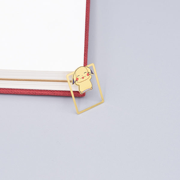 Cute Cartoon Character Metallic Bookmark 10 Pcs Pack, Pikachu