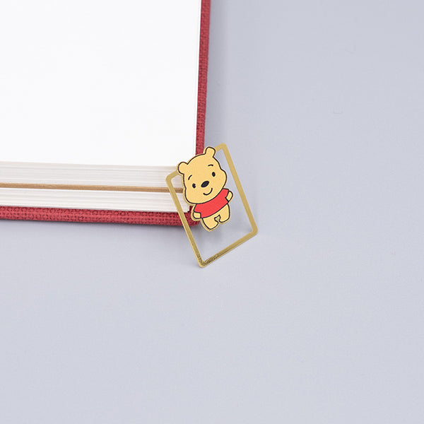 Cute Cartoon Character Metallic Bookmark 10 Pcs Pack, Winnie the Pooh