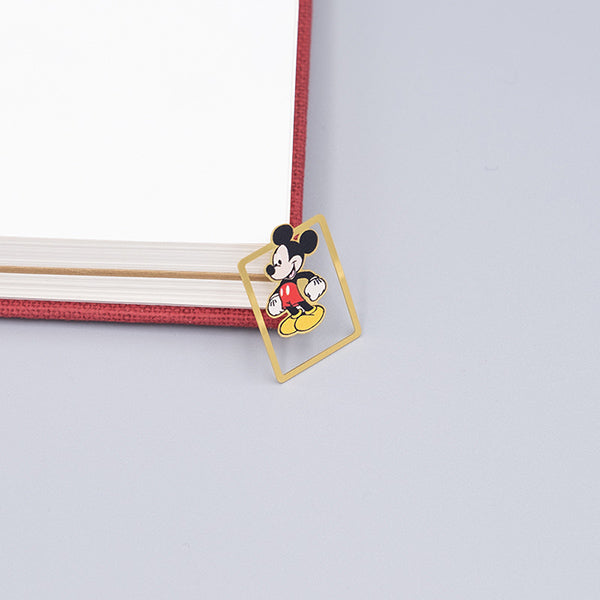 Cute Cartoon Character Metallic Bookmark 10 Pcs Pack, Mickey Mouse