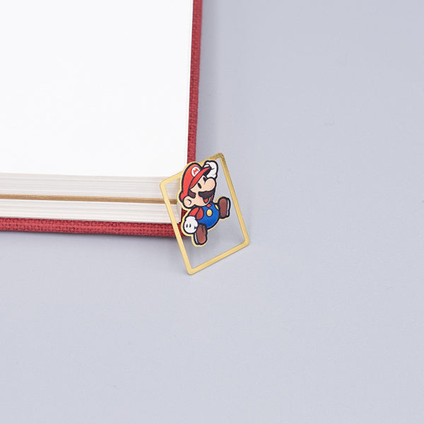 Cute Cartoon Character Metallic Bookmark 10 Pcs Pack, Mario