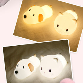 Cute Dog and Cat Buddy Night Lamp