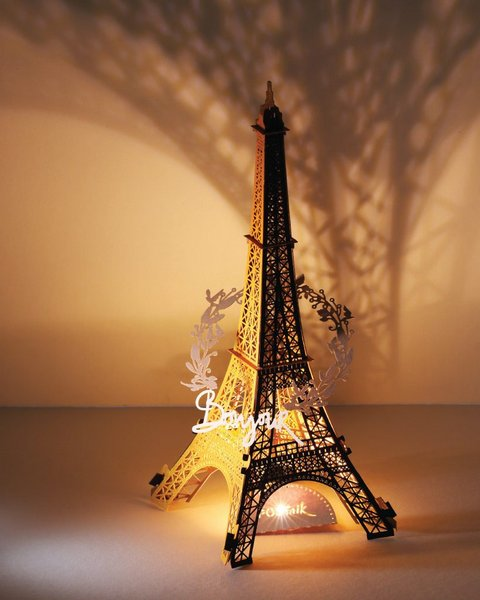 Eiffel Tower Papercut Light Model, 2nd Generation 🗼