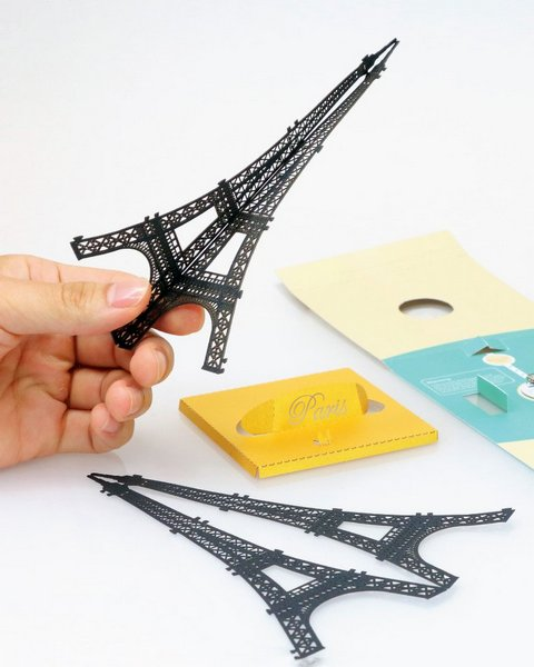 Eiffel Tower Papercut Light Model