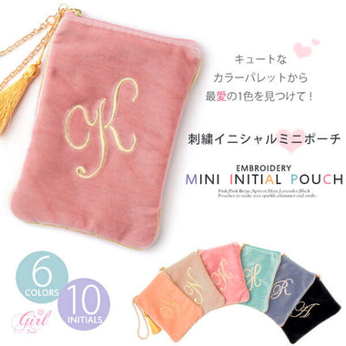 Initial Makeup Cosmetic Wristlet Pouch Bag