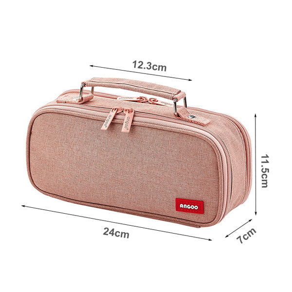 Extra-Large Multilayer Canvas Pencil Case Pouch