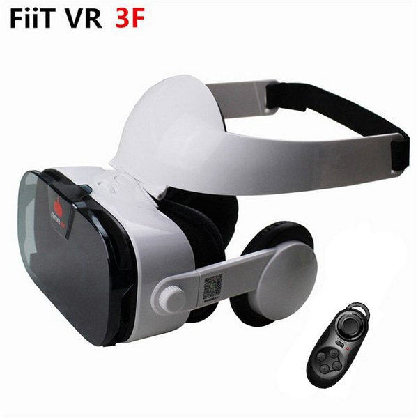FIIT VR 3F Headset (with Remote Control), Headset with Black Media Remote🎚