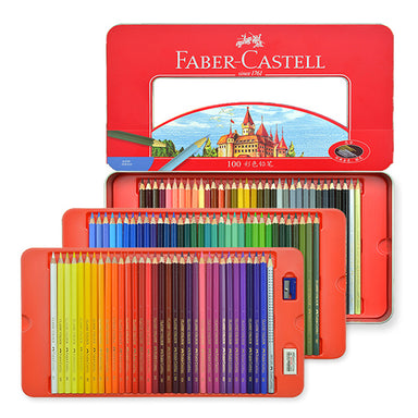 Faber-Castell Colored Pencil Tin Case 48 / 60 / 100 Colors Set