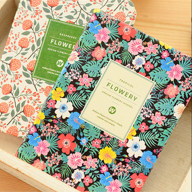Floral Faux Leather Month Weekly Notebook Planner
