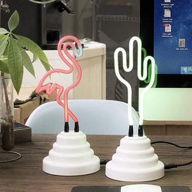 Flamingo, Rainbow, Cactus Neon Light