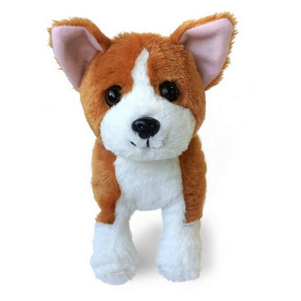 Furry Puppy Plush Toy, E. Corgi