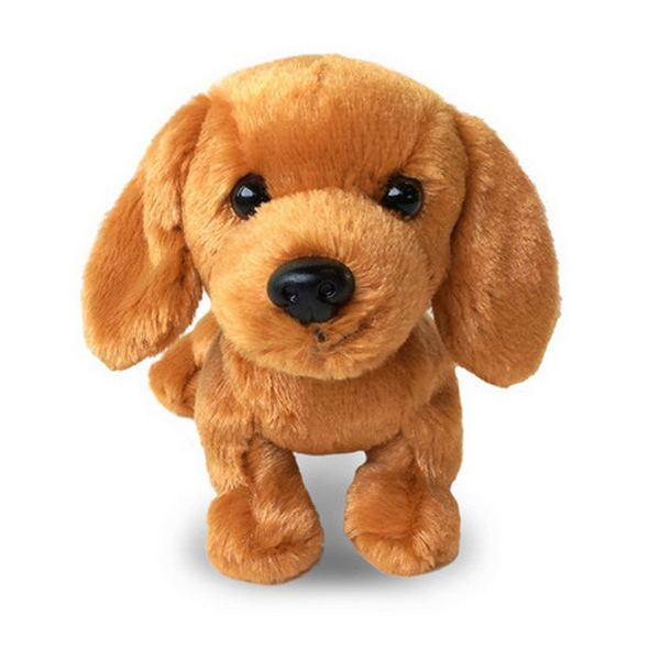 Furry Puppy Plush Toy, D. Dachs Tan
