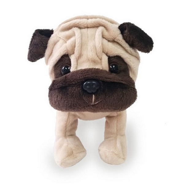 Furry Puppy Plush Toy, H. Pug Brown