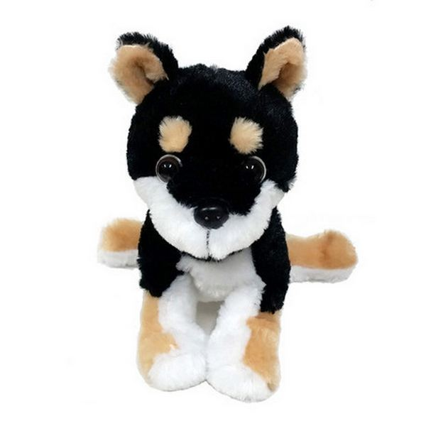 Furry Puppy Plush Toy, F. Shiba Black