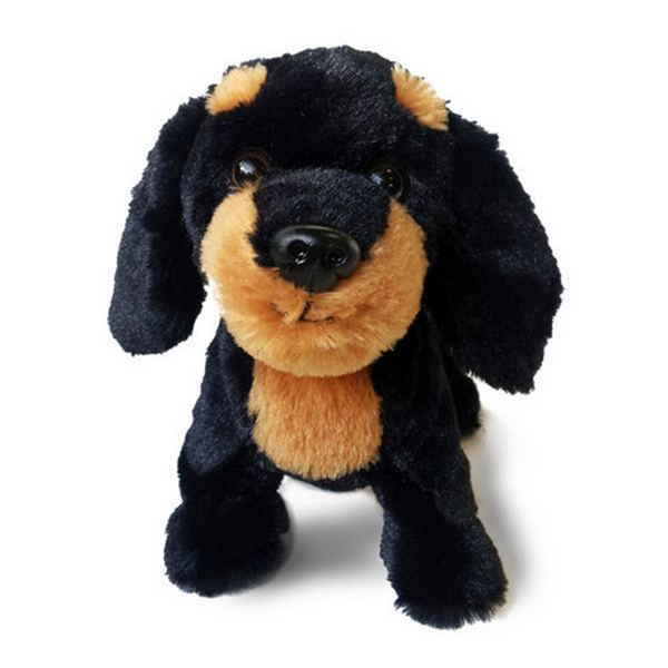 Furry Puppy Plush Toy, D. Dachs Brown