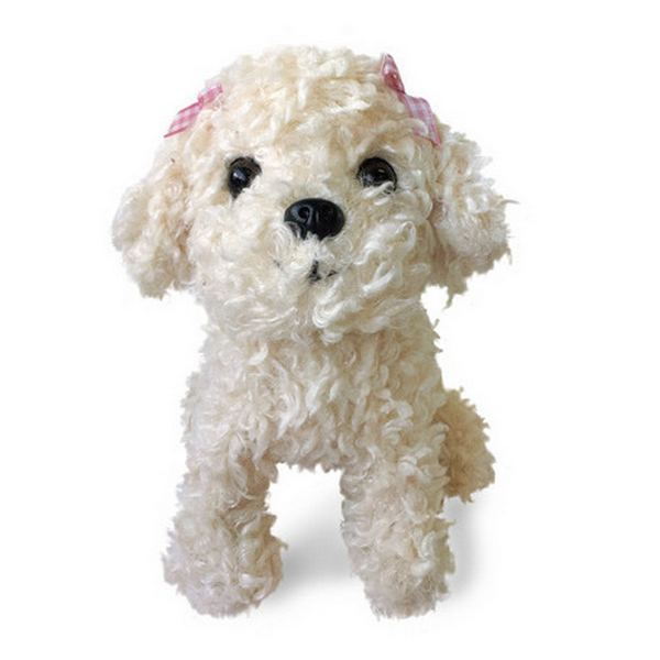 Furry Puppy Plush Toy, A. 🐩Poodle White