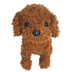 Furry Puppy Plush Toy,?Poodle Red