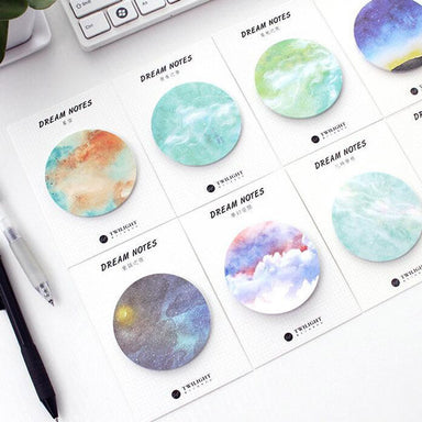 Galaxy Dream Sticky Notes Pack, Customized Combination 4 Sets (Leave a message at cart)