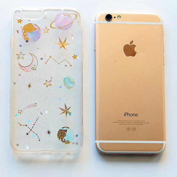 Galaxy & Unicorn Pastel Color Crystal Stickers