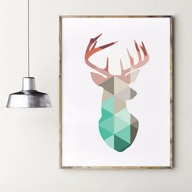 Geometric Canvas Art Print (canvas or with flame)