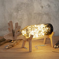 Deer Glass Bottle Light