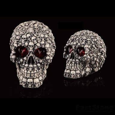Glowing Eyes Skull Statue, 💀A