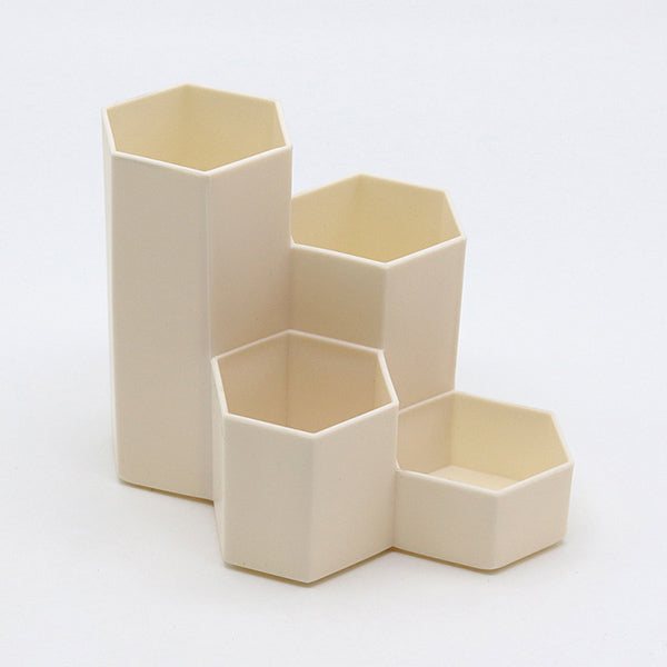 Hexagon Pencil Pot Holder, Wheat / Four